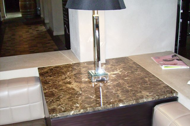 Dark Emperador Marble Side Table 1