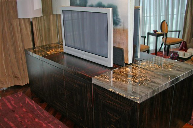 Nero Portoro Marble TV Unit 1